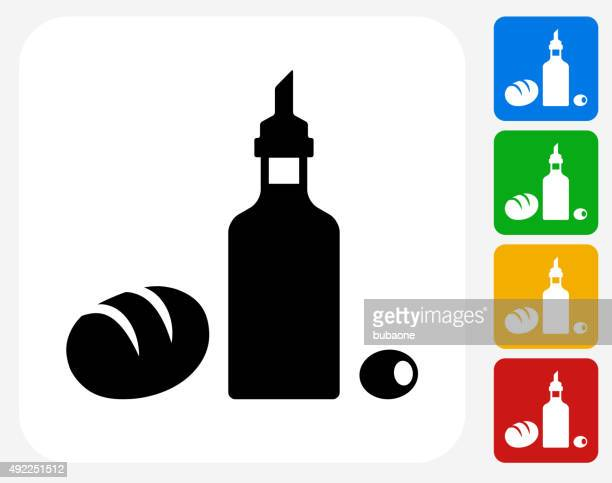 Restaurant Foods Icon Flat Graphic Design