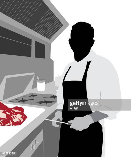 restaurant fresh cut beef - sirloin steak stock illustrations, clip art, cartoons, & icons