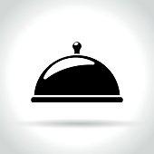 restaurant icon on white background