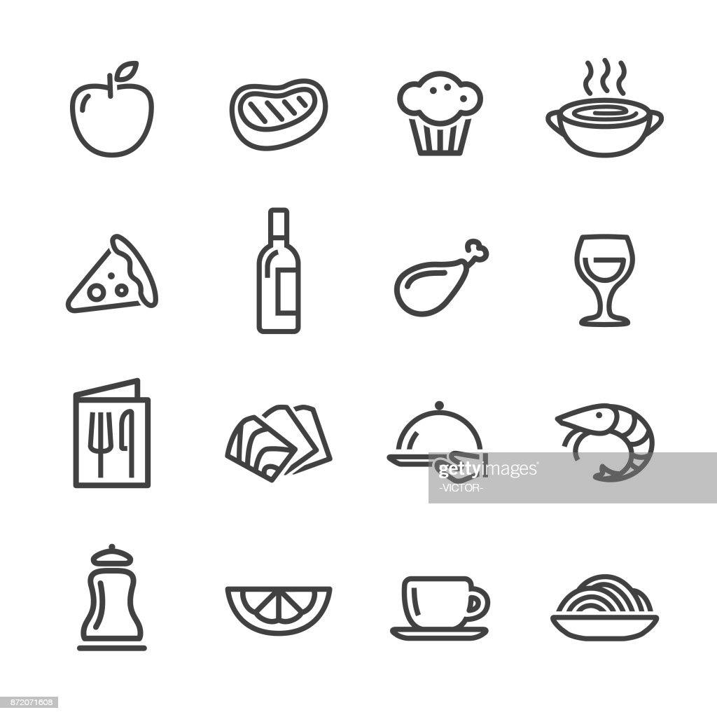 Restaurant Icons - Line Series : stock illustration