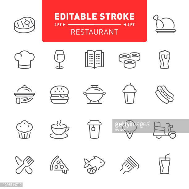 restaurant icons - muffin stock illustrations, clip art, cartoons, & icons