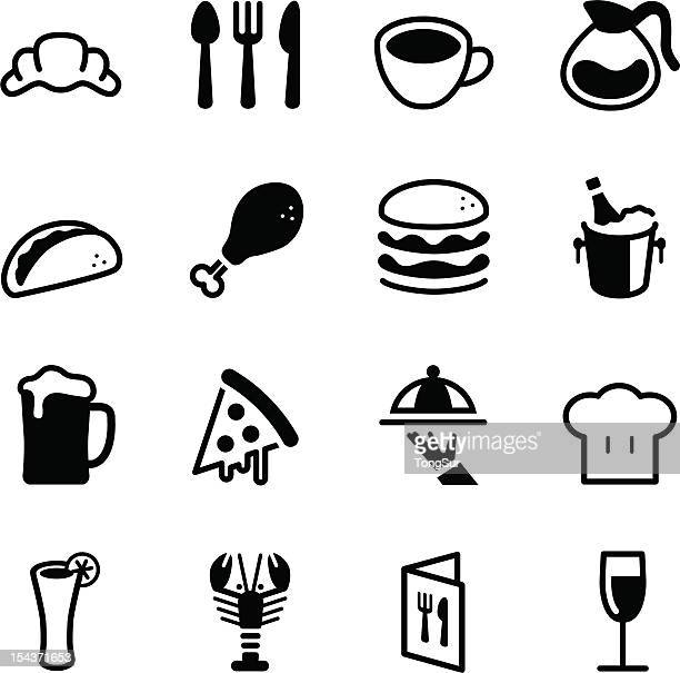 restaurant icons - dipping stock illustrations, clip art, cartoons, & icons