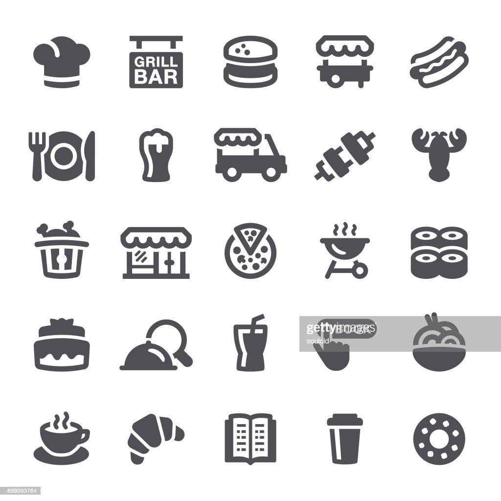 Restaurant Icons : stock illustration