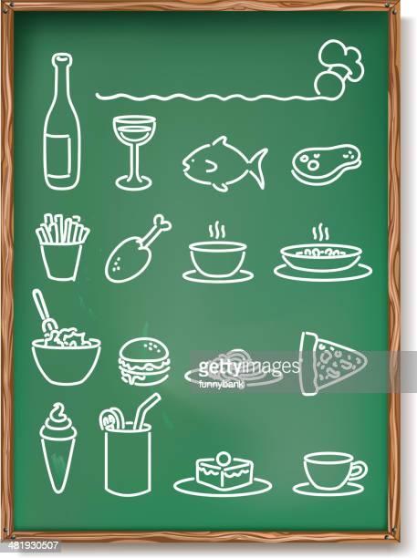 restaurant menu - macaroni stock illustrations, clip art, cartoons, & icons