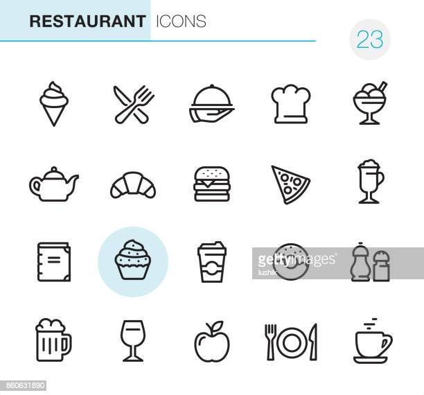 restaurant - pixel perfect icons - beer alcohol stock illustrations, clip art, cartoons, & icons