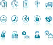 Restaurant Services Icons | Simple Blue Series