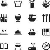 Restaurant Silhouette Icons   Set 2