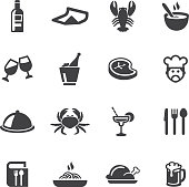 Restaurants Silhouette Icons