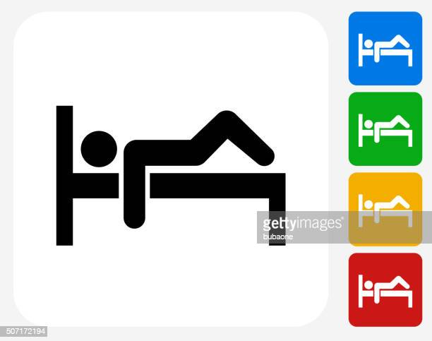 Resting Man Icon Flat Graphic Design