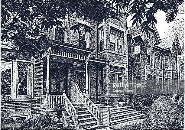 Restaurierten viktorianischen Häusern