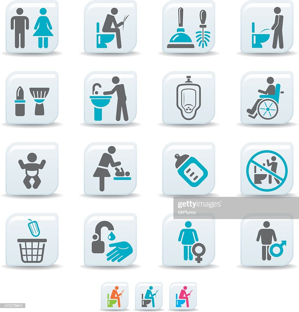 restroom icons | simicoso collection