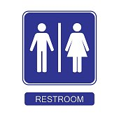 restroom sign isolated vector