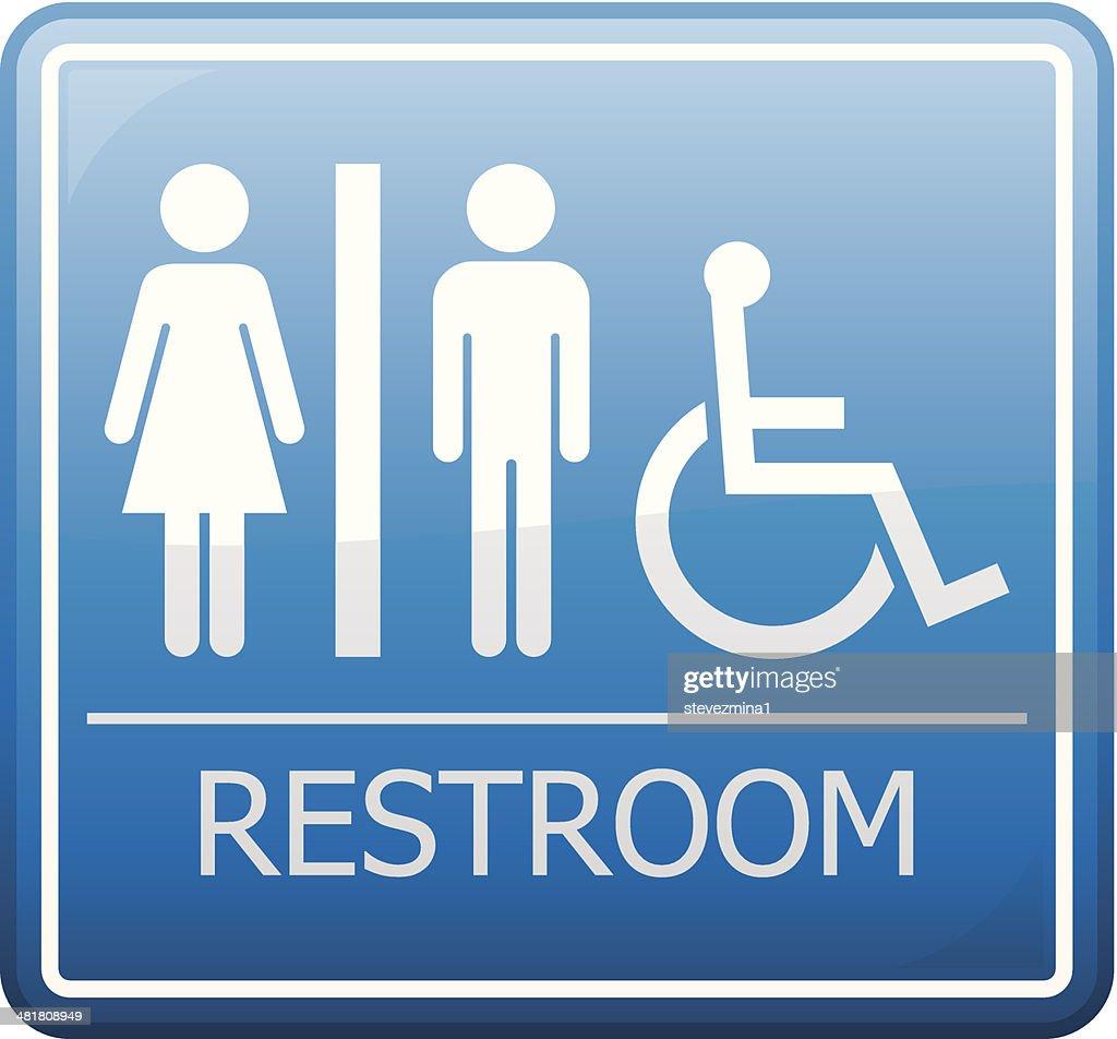 Restroom Sign : stock illustration