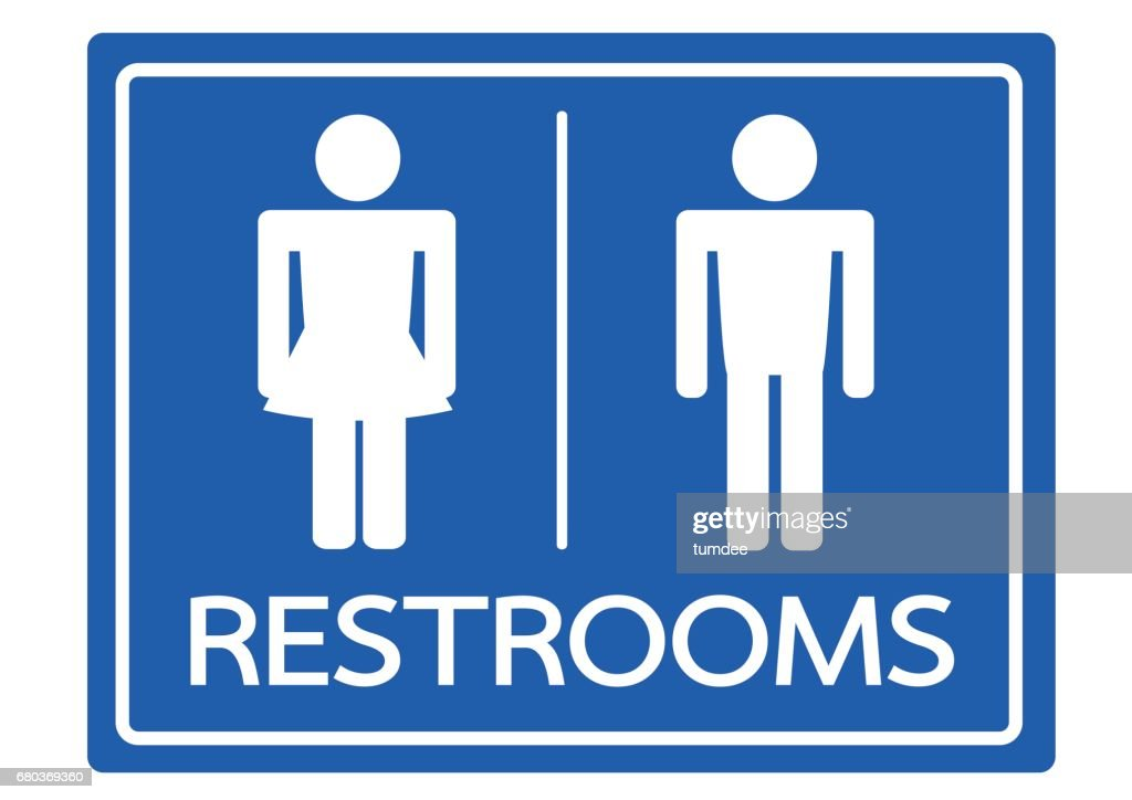 Restroom Symbol Male And Female Icon Vector Art Getty Images