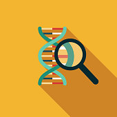 DNA Results Flat Design Genetic Testing Icon