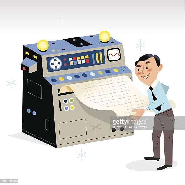 ilustrações, clipart, desenhos animados e ícones de os resultados - impressão de computador