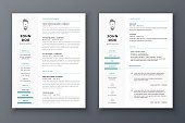 Resume and cv vector template. Awesome for job applications.