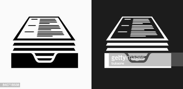 illustrations, cliparts, dessins animés et icônes de reprendre l'icône sur fond de vector noir et blanc - empilé