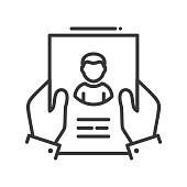 Resume - line design single isolated icon
