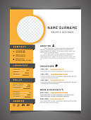 Resume template can be use as letterhead or cover letter. Professional CV design with placeholder.
