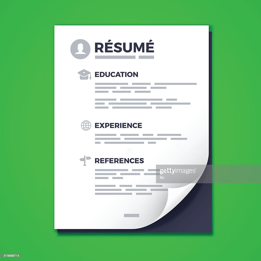 Resume : stock illustration