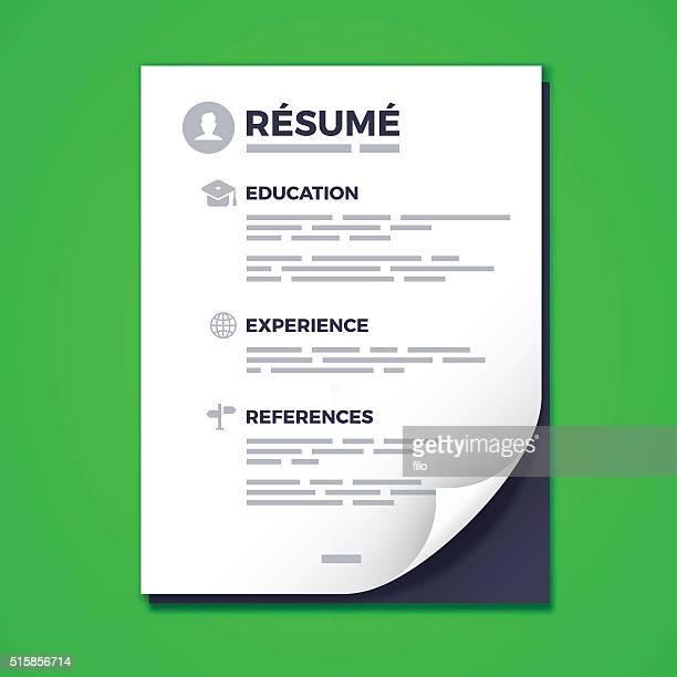 resume - resume stock illustrations