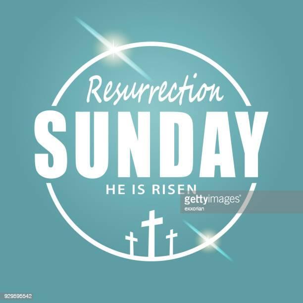 illustrazioni stock, clip art, cartoni animati e icone di tendenza di resurrection sunday - domenica di pasqua