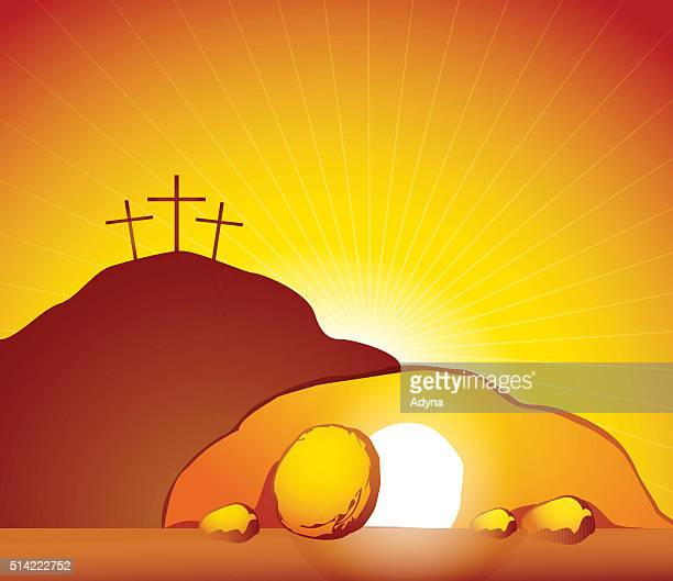 resurrection - resurrection religion stock illustrations, clip art, cartoons, & icons