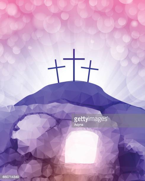 resurrection - jesus stock illustrations, clip art, cartoons, & icons