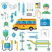Resuscitation symbols vector illustration