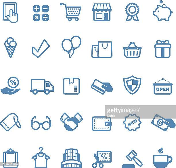 Retail and Service icons / Linico series