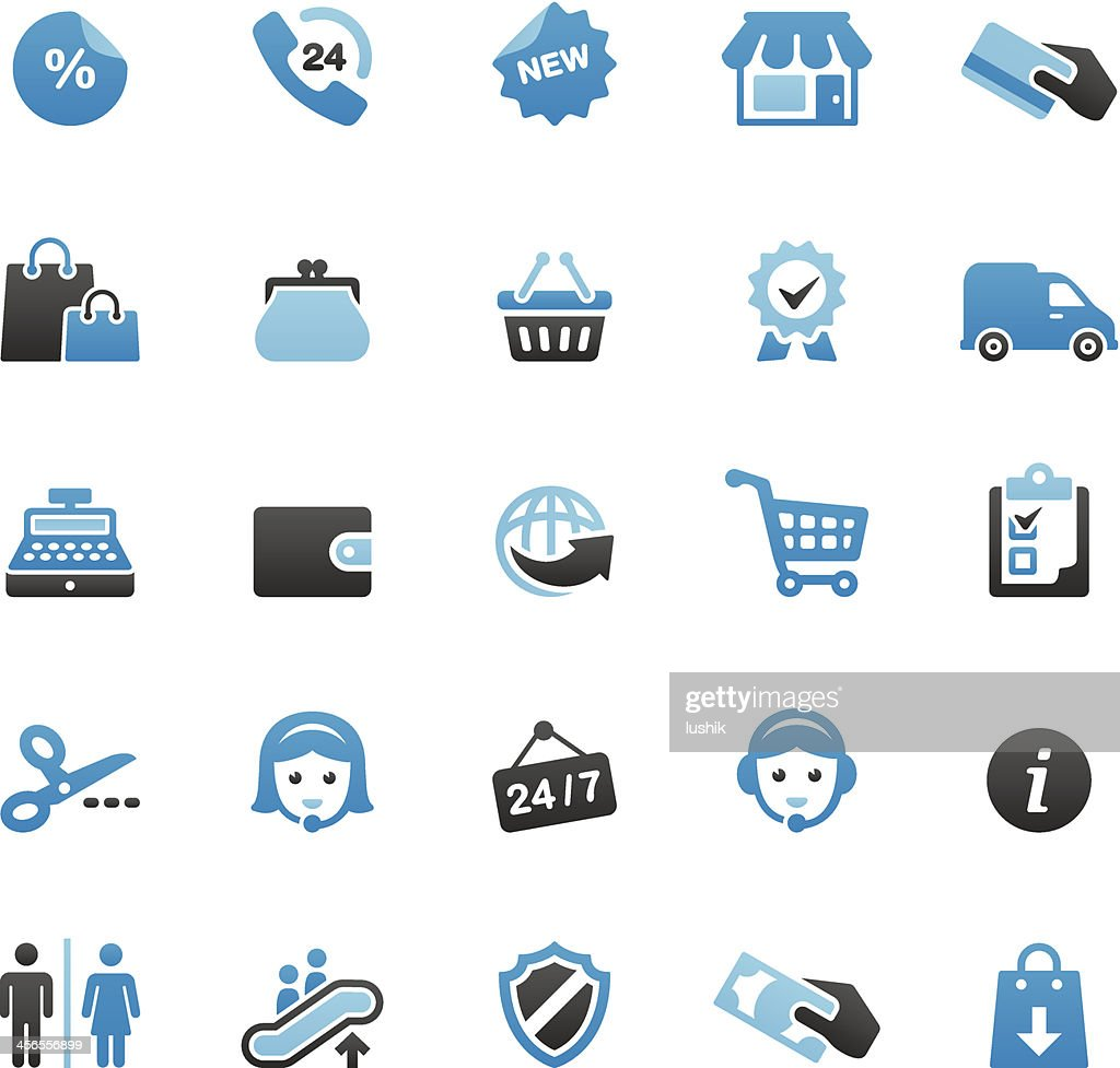 Retail and Shopping icons set
