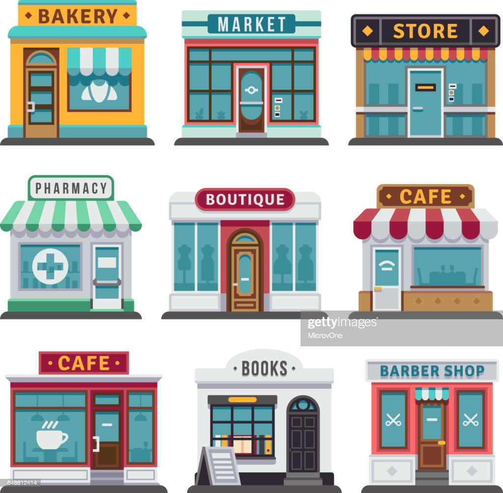 Retail business urban shop, store