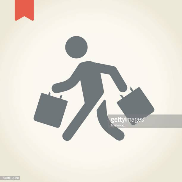 retail customer icon - bag stock illustrations, clip art, cartoons, & icons