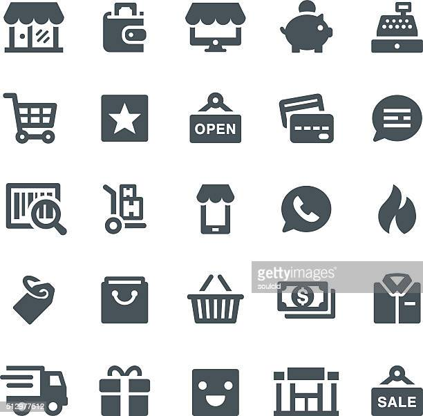 retail icons - cash register stock illustrations