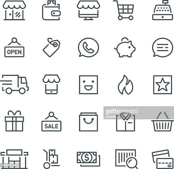 retail icons - basket stock illustrations, clip art, cartoons, & icons