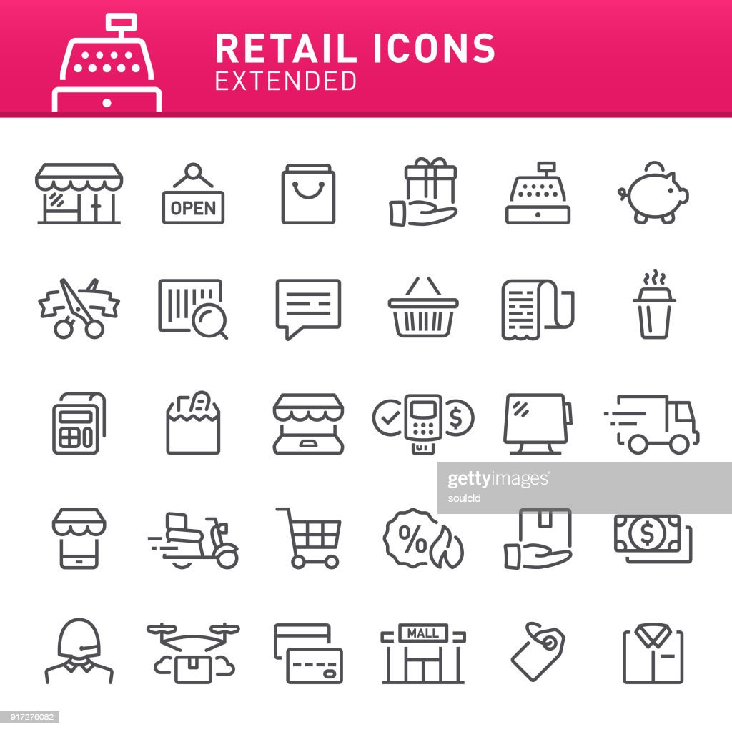Retail Icons : stock illustration