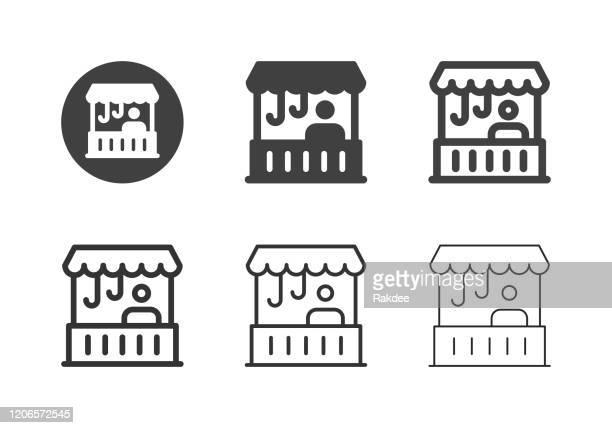 retail shop icons - multi series - high street stock illustrations
