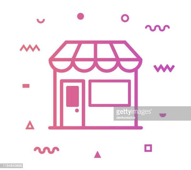 Retail Shop Line Style Icon Design