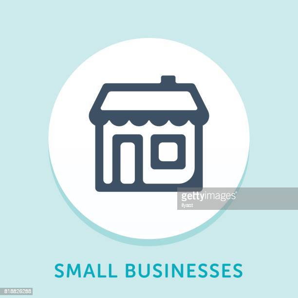 retail store curve icon - small business stock illustrations