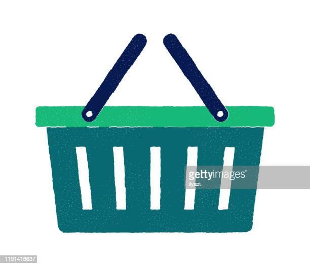 einzelhandel flach doodle icon design - einkaufswagen stock-grafiken, -clipart, -cartoons und -symbole