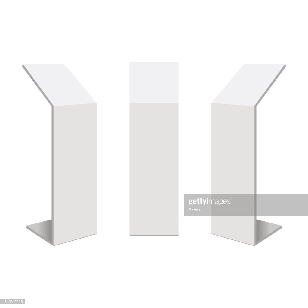 Retail trade stand stand banner on the white background. Mock Up Template. Vector illustration