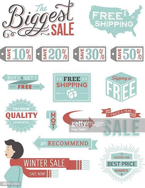 Retail Typography Badges