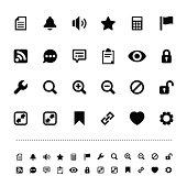 Retina interface icon set
