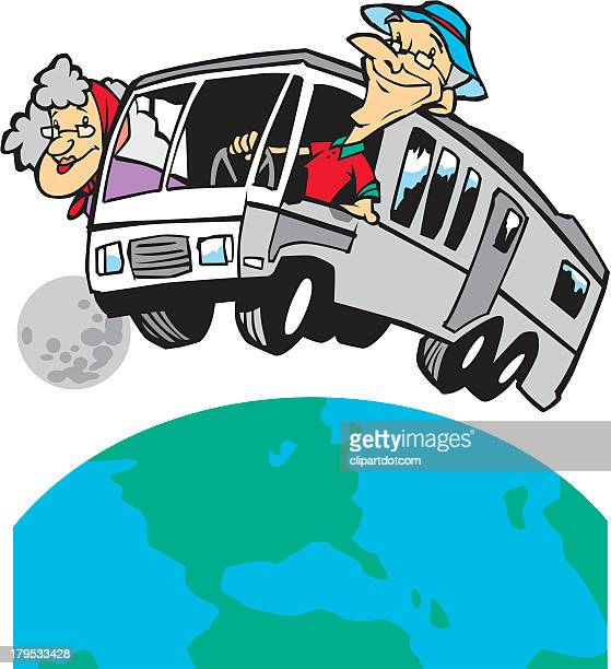 Retired Couple Travelling