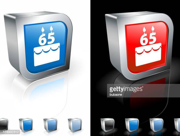 retirement celebration cake 3D royalty free vector art