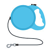 Retractable dog leash isolated on white