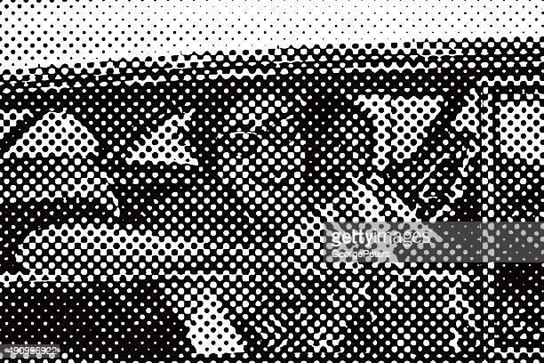 Retro 1950's Teenagers Cruising in Vintage Car