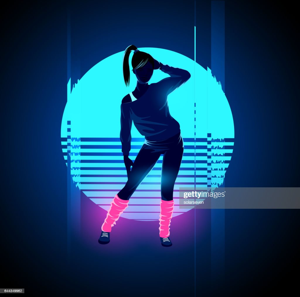 Retro 1980's Glitch Dancer