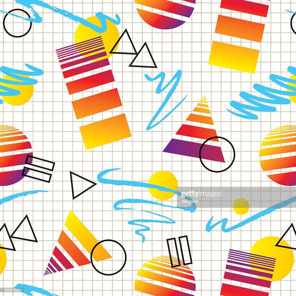 Retro 1980s Style Pattern
